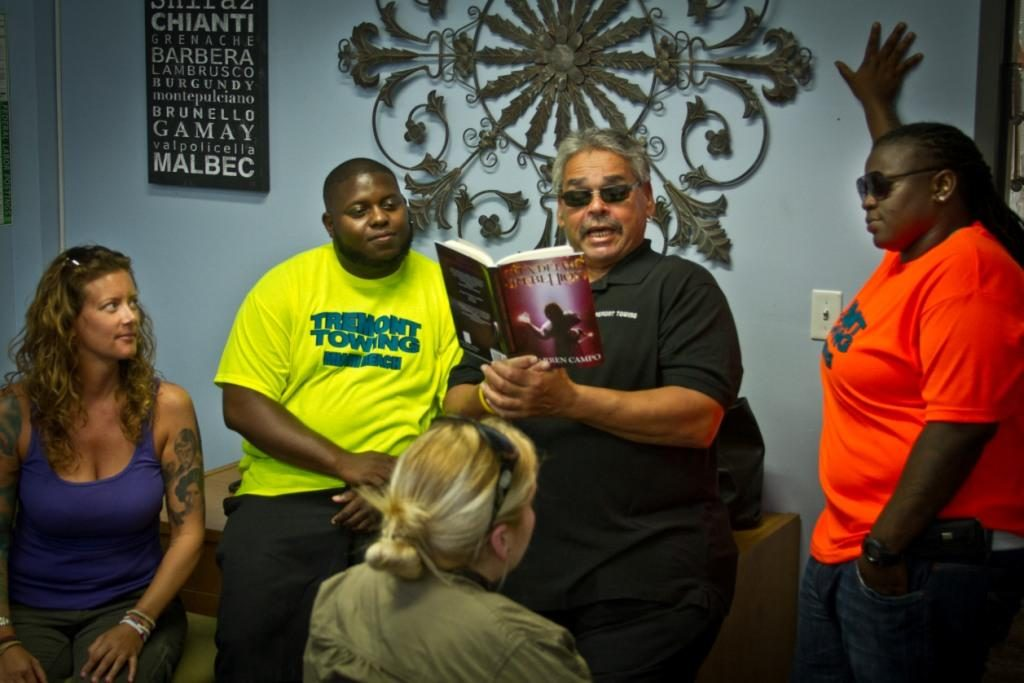 "TruTV's South Beach Tow cast read ""Alex Detail's Rebellion"" by Darren Campo"